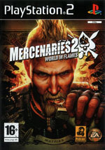 Скан обложки игры Mercenaries 2 World In Flames на PlayStation 2
