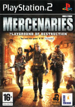 Скан обложки игры Mercenaries: Playground of Destruction на PlayStation 2