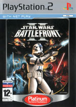 Скан обложки игры Star Wars Battlefront II на PlayStation 2