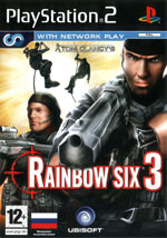 Скан обложки игры Tom Clancy's Rainbow Six 3 на PlayStation 2