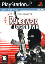 Скан обложки игры Tom Clancy's Rainbow Six Lockdown на PlayStation 2