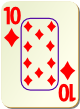 """Изображение игральной карты c рамкой """"Diamond 10"""" (Diamond 10)"""