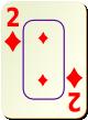 """Изображение игральной карты c рамкой """"Diamond 2"""" (Diamond 2)"""