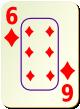 """Изображение игральной карты c рамкой """"Diamond 6"""" (Diamond 6)"""