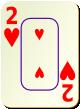 """Изображение игральной карты c рамкой """"Heart 2"""" (Heart 2)"""