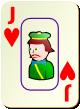 """Изображение игральной карты c рамкой """"Heart Junior"""" (Heart Junior)"""
