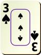 """Изображение игральной карты c рамкой """"Spear 3"""" (Spear 3)"""