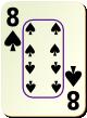 """Изображение игральной карты c рамкой """"Spear 8"""" (Spear 8)"""