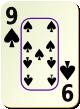 """Изображение игральной карты c рамкой """"Spear 9"""" (Spear 9)"""