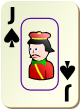 """Изображение игральной карты c рамкой """"Spear Junior"""" (Spear Junior)"""