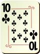 """Изображение игральной карты с орнаментом """"Cross 10"""" (Cross 10)"""