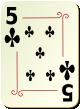 """Изображение игральной карты с орнаментом """"Cross 5"""" (Cross 5)"""
