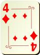 """Изображение игральной карты с орнаментом """"Diamond 4"""" (Diamond 4)"""