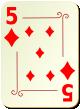 """Изображение игральной карты с орнаментом """"Diamond 5"""" (Diamond 5)"""