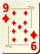 """Изображение игральной карты с орнаментом """"Diamond 9"""" (Diamond 9)"""