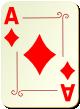 """Изображение игральной карты с орнаментом """"Diamond Ace"""" (Diamond Ace)"""