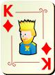 """Изображение игральной карты с орнаментом """"Diamond King"""" (Diamond King)"""