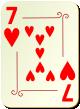 """Изображение игральной карты с орнаментом """"Heart 7"""" (Heart 7)"""