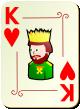 """Изображение игральной карты с орнаментом """"Heart King"""" (Heart King)"""