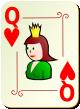 """Изображение игральной карты с орнаментом """"Heart Queen"""" (Heart Queen)"""