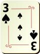 """Изображение игральной карты с орнаментом """"Spear 3"""" (Spear 3)"""