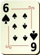 """Изображение игральной карты с орнаментом """"Spear 6"""" (Spear 6)"""