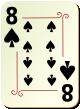 """Изображение игральной карты с орнаментом """"Spear 8"""" (Spear 8)"""