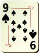 """Изображение игральной карты с орнаментом """"Spear 9"""" (Spear 9)"""