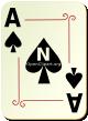 """Изображение игральной карты с орнаментом """"Spear Ace"""" (Spear Ace)"""