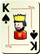 """Изображение игральной карты с орнаментом """"Spear King"""" (Spear King)"""