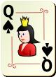 """Изображение игральной карты с орнаментом """"Spear Queen"""" (Spear Queen)"""