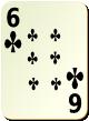 """Изображение игральной карты без специфики """"Cross 6"""" (Cross 6)"""