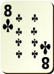 """Изображение игральной карты без специфики """"Cross 8"""" (Cross 8)"""