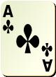 """Изображение игральной карты без специфики """"Cross Ace"""" (Cross Ace)"""