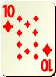 """Изображение игральной карты без специфики """"Diamond 10"""" (Diamond 10)"""
