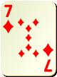 """Изображение игральной карты без специфики """"Diamond 7"""" (Diamond 7)"""