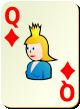 """Изображение игральной карты без специфики """"Diamond Queen"""" (Diamond Queen)"""