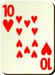 """Изображение игральной карты без специфики """"Heart 10"""" (Heart 10)"""
