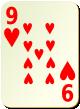 """Изображение игральной карты без специфики """"Heart 9"""" (Heart 9)"""