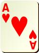 """Изображение игральной карты без специфики """"Heart Ace"""" (Heart Ace)"""