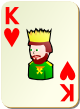 """Изображение игральной карты без специфики """"Heart King"""" (Heart King)"""