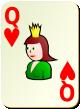"""Изображение игральной карты без специфики """"Heart Queen"""" (Heart Queen)"""