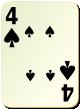 """Изображение игральной карты без специфики """"Spear 4"""" (Spear 4)"""