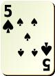 """Изображение игральной карты без специфики """"Spear 5"""" (Spear 5)"""