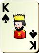 """Изображение игральной карты без специфики """"Spear King"""" (Spear King)"""