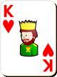 """Изображение игральной карты с белым фоном """"Heart King"""" (Heart King)"""