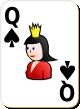 """Изображение игральной карты с белым фоном """"Spear Queen"""" (Spear Queen)"""